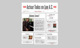 Actuar Todos en Jam A.C.