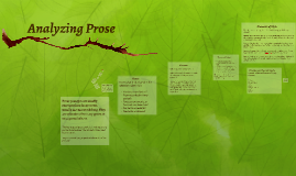 Analyzing Prose