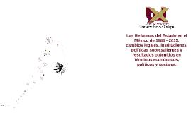 Copy of Las Reformas del Estado en el México de 1983 - 2015, cambios