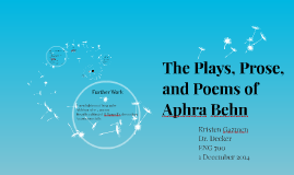 The Plays, Prose, and Poems of Aphra Behn