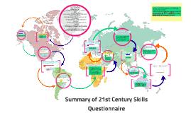 Summary of 21st Century Skills Questionaire