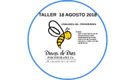 TALLER  AGOSTO 2018