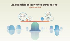 Clasificación de los textos persuasivos