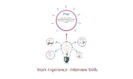 Work Experience : Interview Skills