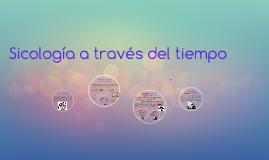 Copy of Copy of Sicología a través Del tiempo