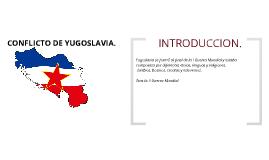 CONFLICTO DE YUGOSLAVIA.