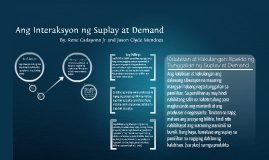 Ang Interaksyon ng Suplay at Demand