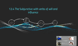 12.4 The Subjunctive with verbs of will and influence