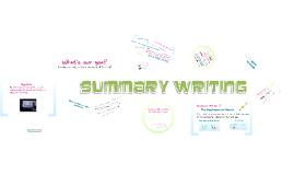 Copy of How to write an objective summary