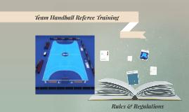 Want to be a Team Handball Referee