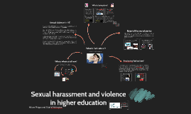 Sexual harassment and violence in higher education
