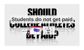Students do not get paid