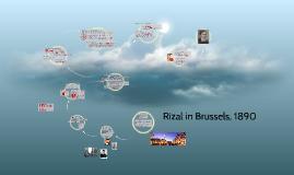 Rizal in Brussels, 1890