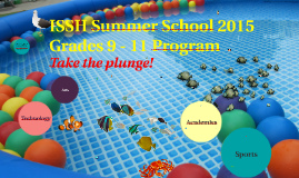 ISSH Summer School 2015 HS