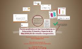 Estrés académico en las Licenciaturas en Educación Primaria