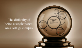 Copy of The difficulty of being a single parent on a college campus