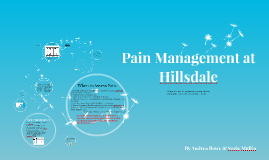 Pain Management at Hillsdale