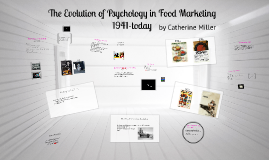 The Evolution of Psychology in Food Marketing