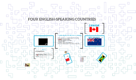 FOUR ENGLISH-SPEAKING COUNTRIES