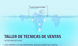 TALLER DE TECNICAS D VENTAS