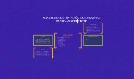 Copy of MANUAL DE CONTRATACIÓN E.S.E. HOSPITAL EL SALVADOR DE UBATE