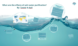 How might salt water be purified?