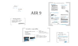 AIR 9 Ethical issues in AIR and final tips for the assignments