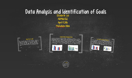 Data Analysis and Identification of Goals