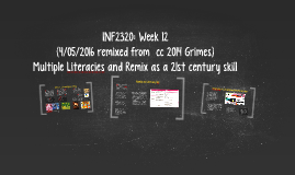 INF2320 Week 12: Multiple Literacies and Remix as a 21st Century Skill