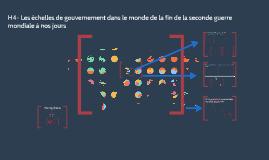 H4- Les échelles de gouvernement dans le monde de la fin de