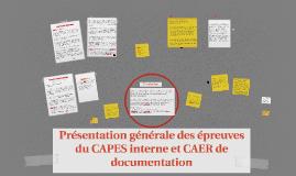 Présentation générale des épreuves du CAPES interne et du CA