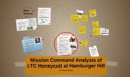 Mission Command Analysis of LTC Honeycutt at Hamburger Hill