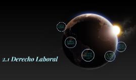 2.1 Derecho Laboral