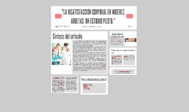 """""""LA INSATISFACCIÓN CORPORAL EN MUJERES ADULTAS:"""