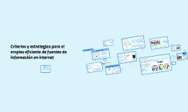 Criterios y estrategias para el empleo eficiente de fuentes