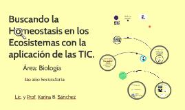 Buscando la Homeostasis en los Ecosistemas con la aplicación