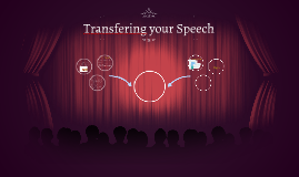 Transfering your Speech