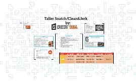 Copy of TALLER Snatch/Clean &Jerj