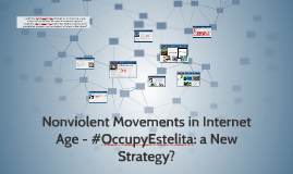 Nonviolence Movement in Social Network Time - #occupyestelit