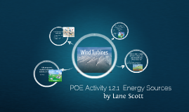 POE Activity 1.2.1  Energy Sources
