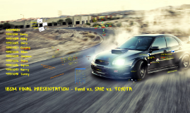 IBSM FINAL - Ford v.s. SAIC v.s. TOYOTA