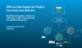 BIM and the Impact on Project Contracts and Delivery