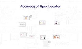 Copy of Accuracy of Apex Locator