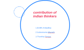 contribution of indian thinkers