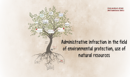 Administrative infraction in the field of environmental prot