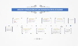 Copy of ORIGEN Y EVOLUCIÓN DE LOS IMPUESTOS EN EL ECUADOR