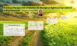 A Critical Perspective of Section 35 Aboriginal Rights Juris