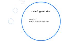 Learingsteoriar