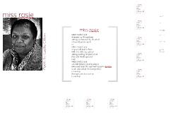 miss rosie poem theme