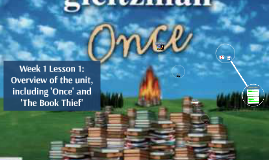 Week 1 Lesson 1: Overview of the unit, including 'Once' and 'The Book Thief'